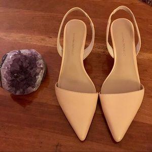 BR Nude 'Hedy' Slingback Kitten heels